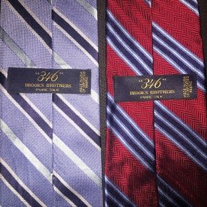 Brooks brothers tie bundle red and blue